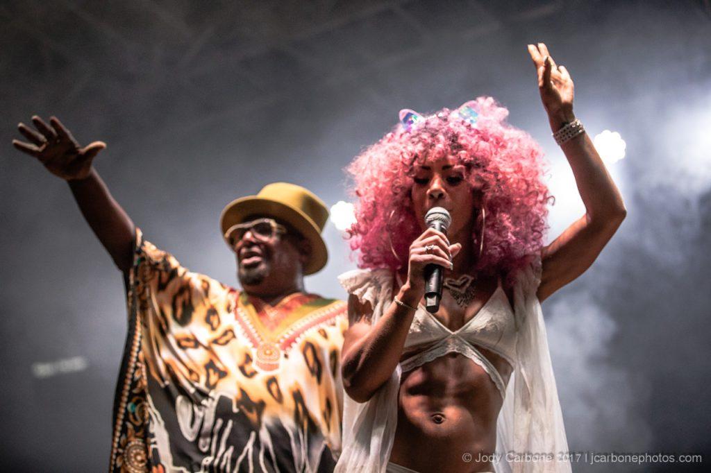 Brandi Scott with George Clinton and Parliament Funkadelic Lynchburg VA 07.08.2017
