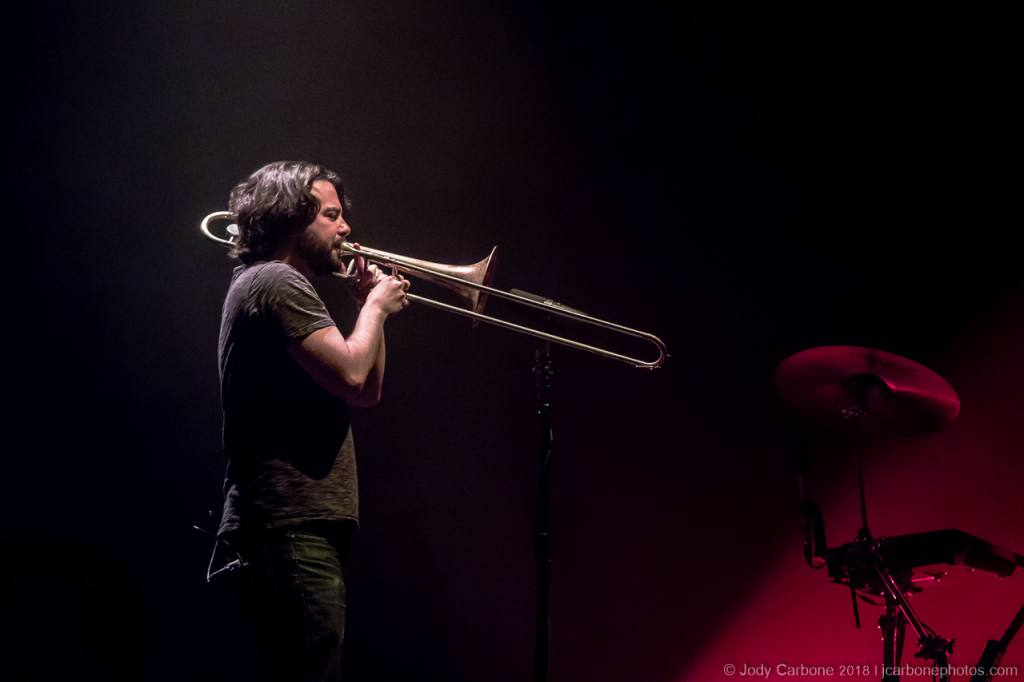 Scott Flynn on trombone ODESZA Sprint Pavilion 05.01.2018