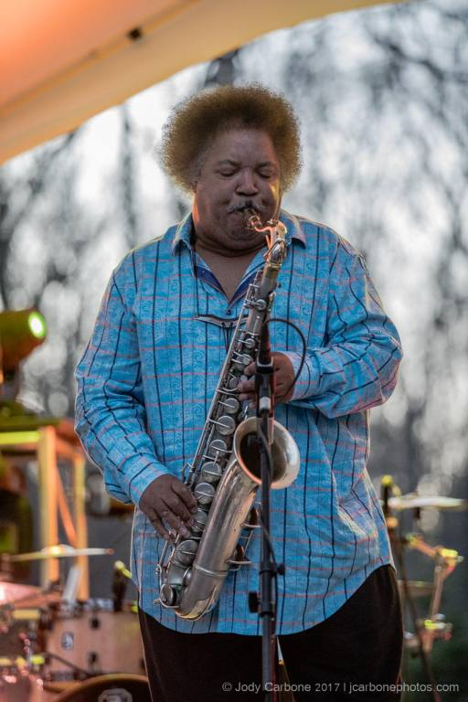 Ron Holloway playing sax with his band