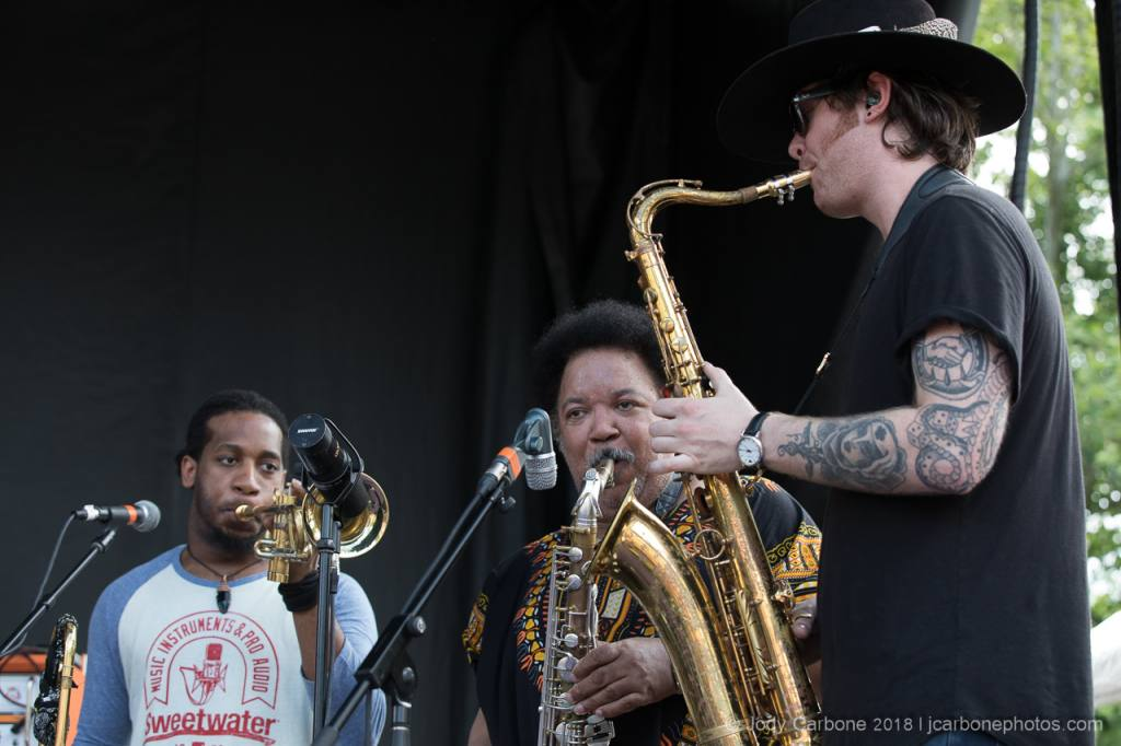 The Marcus King Band with Ron Holloway on sax Rooster Walk 2018